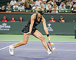Angelique Kerber (GER) is defeated by Paula Badosa (ESP) 4-6, 5-7, at the BNP Paribas Open being played at Indian Wells Tennis Garden in Indian Wells, California on October 14,2021: ©Karla Kinne/Tennisclix/CSM