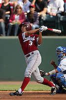 April 3 2010: Kenny Diekroeger of the Stanford Cardinal during game against the UCLA Bruins at UCLA in Los Angeles,CA.  Photo by Larry Goren/Four Seam Images