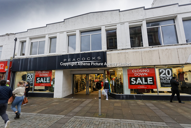 The Peacock store which will be closing down in Oxford Street, Swansea, Wales, UK. Monday 30 November 2020