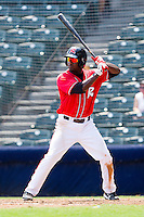Wendell Fairley #16 of the Richmond Flying Squirrels at bat against the Harrisburg Senators at The Diamond on July 22, 2011 in Richmond, Virginia.  The Squirrels defeated the Senators 5-1.   (Brian Westerholt / Four Seam Images)