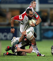 Friday 7th December 2012;  John Afoa in action for Ulster during the Pool 4 round 3 Heineken Cup clash at Franklin's Gardens, Northampton, England. Image credit -: JOHN DICKSON / DICKSONDIGITAL