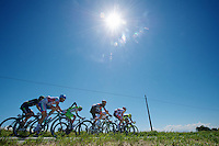 2013 Giro d'Italia.stage 13: Busseto - Cherasco ..an unexpected sunny day makes the life of this breakaway group a little more comfortable