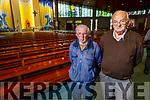 John Mason and Matt Flaherty attending Mass in St  Brendans Church on Monday morning as Churches reopen for mass