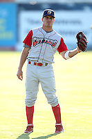 Williamsport Crosscutters infielder Carlos Alonso (6) during pre-game before a game vs the Batavia Muckdogs at Dwyer Stadium in Batavia, New York July 26, 2010.   Batavia defeated Williamsport 3-2.  Photo By Mike Janes/Four Seam Images