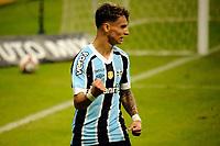 PORTO ALEGRE, RS, 09.05.2021 - GREMIO - CAXIAS - O atacante Ferreira comemora o seu gol, da equipe do Grêmio, comemora o seu gol, na partida entre Grêmio e Caxias, válida pela semi final do Campeonato Gaúcho 2021, no estádio Arena do Grêmio, em Porto Alegre, neste domingo (9).