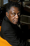 Mongo Beti, congolese author at home in Rouen, France.