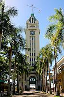 Aloha Tower at Aloha Tower Marketplace, Honolulu Harbor, O'ahu.