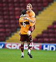 :: MOTHERWELL'S STEPHEN JONES CELEBRATES SCORING THE FIRST  ::.11/05/2011 sct_jsp004_motherwell_v_kilmarnock     .Copyright  Pic : James Stewart.James Stewart Photography 19 Carronlea Drive, Falkirk. FK2 8DN      Vat Reg No. 607 6932 25.Telephone      : +44 (0)1324 570291 .Mobile              : +44 (0)7721 416997.E-mail  :  jim@jspa.co.uk.If you require further information then contact Jim Stewart on any of the numbers above.........