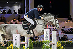 Robert Smith of Great Britain riding Cimano E competes in the Masters One DBS during the Longines Masters of Hong Kong at AsiaWorld-Expo on 11 February 2018, in Hong Kong, Hong Kong. Photo by Ian Walton / Power Sport Images