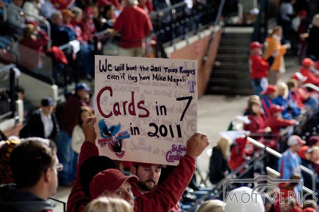 St. Louis Cardinals vs. Texas Rangers, Game 6 of the World Series 2011.  Cardinals won 10-9.