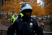"""New York, New York<br /> November 15, 2011<br /> <br /> After the police clear Zuccotti Park workers clean the park as many of the evicted """"Occupy Wall Street"""" protesters, reconvened in Foley Square.<br /> <br /> From there a group marched to Canal and 6th Ave and final back to Zuccotti Park to wait a court order to reenter the park."""