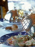 Europe/France/Languedoc-Roussillon/11/Aude/Carcassonne: Cochon de Lait mijoté aux raviolis et boudins en saupiquet recette de C Turquier