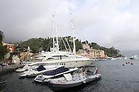 Yachts ormeggiati nel porto di Portofino.<br /> Moored yachts in the harbour of Portofino.<br /> UPDATE IMAGES PRESS/Riccardo De Luca