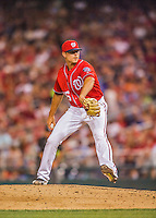 28 May 2016: Washington Nationals pitcher Blake Treinen on the mound against the St. Louis Cardinals at Nationals Park in Washington, DC. The Cardinals defeated the Nationals 9-4 to take a 2-games to 1 lead in their 4-game series. Mandatory Credit: Ed Wolfstein Photo *** RAW (NEF) Image File Available ***