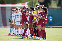 STANFORD, CA - SEPTEMBER 12: Kellie Pagador before a game between Loyola Marymount University and Stanford University at Cagan Stadium on September 12, 2021 in Stanford, California.