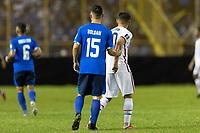 SAN SALVADOR, EL SALVADOR - SEPTEMBER 2: Alex Roldan #15 El Salvador,  Cristian Roldan #10 of the United States during a game between El Salvador and USMNT at Estadio Cuscatlán on September 2, 2021 in San Salvador, El Salvador.