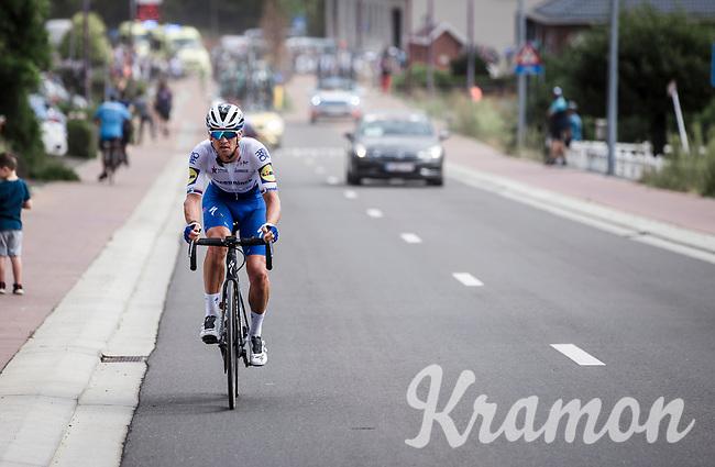 Zdenek Stybar (CZE/Deceuninck-Quick Step) in pursuit of the peloton after a technical issue<br /> <br /> Dwars Door Het Hageland 2020<br /> One Day Race: Aarschot – Diest 180km (UCI 1.1)<br /> Bingoal Cycling Cup 2020