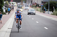 Zdenek Stybar (CZE/Deceuninck-Quick Step) in pursuit of the peloton after a technical issue<br /> <br /> Dwars Door Het Hageland 2020<br /> One Day Race: Aarschot – Diest 180km (UCI 1.1)<br /> Bingoal Cycling Cup 2020