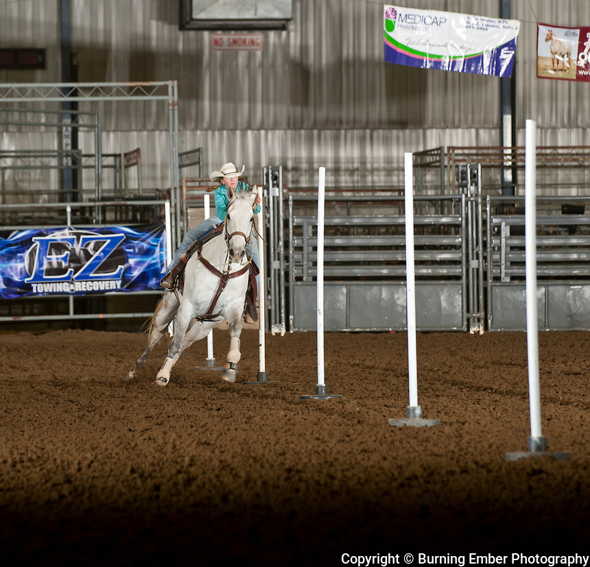 Isabelle Camino during the Pole Bending event of the Junior High State finals in Gillette Wyoming May 12th 2017.  Photo by Josh Homer/Burning Ember Photography.  Photo credit must be given on all uses.
