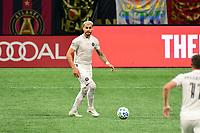 ATLANTA, GA - SEPTEMBER 02: Leandro Gonzalez Pirez #26 of Inter Miami CF dribbles the ball during a game between Inter Miami CF and Atlanta United FC at Mercedes-Benz Stadium on September 02, 2020 in Atlanta, Georgia.
