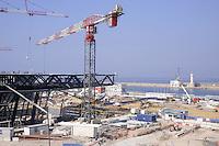- Marsiglia, cantiere edile del nuovo centro congressi Centre régional de la Méditerranée....- Marseille, building site of the new convention center Centre régional de la Méditerranée