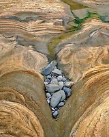 Sandstone design and rocks at Seal Rock Beach in Lincoln County Oregon