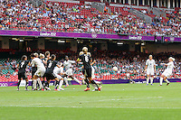 Stephanie HOUGHTON of Great Britain scores the first goal  from a free-kick - Great Britain Women vs New Zealand Women - Womens Olympic Football Tournament London 2012 Group E at the Millenium Stadium, Cardiff, Wales - 25/07/12 - MANDATORY CREDIT: Gavin Ellis/SHEKICKS/TGSPHOTO - Self billing applies where appropriate - 0845 094 6026 - contact@tgsphoto.co.uk - NO UNPAID USE.