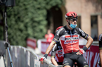 Philippe Gilbert (BEL/Lotto-Soudal) waiting to be signed on<br /> <br /> 14th Strade Bianche 2020<br /> Siena > Siena: 184km (ITALY)<br /> <br /> delayed 2020 (summer!) edition because of the Covid19 pandemic > 1st post-Covid19 World Tour race after all races worldwide were cancelled in march 2020 by the UCI