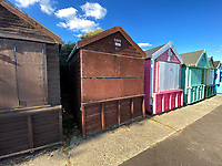 BNPS.co.uk (01202) 558833. <br /> Pic: Winkworth/BNPS<br /> <br /> Pictured: The hut. <br /> <br /> A beach hut that looks more like a garden shed you could buy from B&Q for £500 has gone the market - for almost £60,000.<br /> <br /> At 7ft by 8ft the timber cabin is about the same size as most garden sheds, but its idyllic location makes it far more valuable.<br /> <br /> Hut 128 is on Friars Cliff Beach in Christchurch, Dorset.<br /> <br /> The dilapidated hut is about 30 years old and in need of replacing. It doesn't have any fixtures or fittings and is just an empty shell.