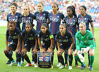 The Paris Saint-Germain team during the UEFA Champions league final Women's football between Lyon and Paris Saint-Germain at Cardiff City Stadium on 1st June 2017<br /> <br /> <br /> Jeff Thomas Photography -  www.jaypics.photoshelter.com - <br /> e-mail swansea1001@hotmail.co.uk -<br /> Mob: 07837 386244 -