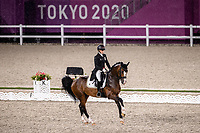 BEL-Larissa Pauluis rides Fambeau during the Dressage Grand Prix Team and Individual Qualifier Day 1 at the Equestrian Park. Tokyo 2020 Olympic Games. Saturday 24 July 2021. Copyright Photo: Libby Law Photography