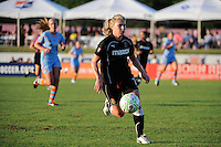 McCall Zerboni (7) of the Western New York Flash. The Western New York Flash defeated Sky Blue FC 4-1 during a Women's Professional Soccer (WPS) match at Yurcak Field in Piscataway, NJ, on July 30, 2011.