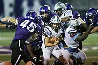 Southside running back Jackson Riddle (22) carries the ball, Friday, October 9, 2020 during a football game at Fayetteville High School in Fayetteville. Check out nwaonline.com/2010010Daily/ for today's photo gallery. <br /> (NWA Democrat-Gazette/Charlie Kaijo)