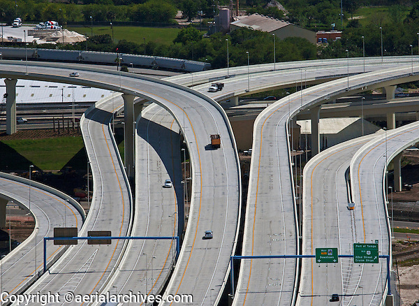 aerial photograph  Selmon Expressway, Toll Road, interchange, Tampa, Florida
