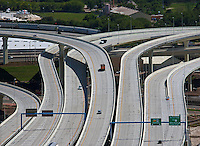 aerial photograph  Selmon Expressway, Toll Road, interchange, Tampa, Florida