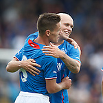 Ian Black and Nicky Law celabrate after the third goal