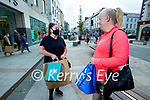 Sandra Breen, Ballyheigue and Cathy Duggan, Tralee shopping in Tralee on Tuesday morning.