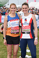 Helen Glover and Heather Stanning<br /> at the start of the 2017 London Marathon on Blackheath Common, London. <br /> <br /> <br /> ©Ash Knotek  D3253  23/04/2017