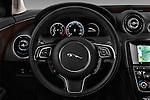 Car pictures of steering wheel view of a 2016 Jaguar XJ Premium Luxury 4 Door Sedan Steering Wheel
