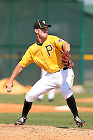 Pittsburgh Pirates pitcher Victor Black #49 during an Instructional League game against the Atlanta Braves at Pirate City on October 14, 2011 in Bradenton, Florida.  (Mike Janes/Four Seam Images)