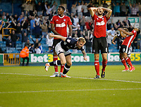 GOAL - Millwall's Aiden O'Brien levels the score during the Sky Bet Championship match between Millwall and Ipswich Town at The Den, London, England on 15 August 2017. Photo by Carlton Myrie.