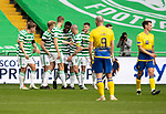 Celtic v St Johnstone…12.05.21  SPFL Celtic Park<br />Scott Brown congratulates Odsonne Edouard after he scored to make ti 2-0<br />Picture by Graeme Hart.<br />Copyright Perthshire Picture Agency<br />Tel: 01738 623350  Mobile: 07990 594431