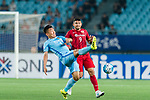 Jiangsu FC Midfielder Liu Jianye (L) fights for the ball with Shanghai FC Forward Elkeson De Oliveira Cardoso (R) during the AFC Champions League 2017 Round of 16 match between Jiangsu FC (CHN) vs Shanghai SIPG FC (CHN) at the Nanjing Olympic Stadium on 31 May 2017 in Nanjing, China. Photo by Marcio Rodrigo Machado / Power Sport Images