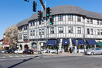 A view of the intersection of Main Street and Broadway in Tarrytown, New York