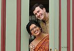 Wedding day preparation and ceremony of Malavika Jagannathan and Adam Reinhard in Galveston, Texas on January 12, 2014.
