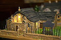 """08/12/16<br /> <br /> Methodist Church.<br /> <br /> In this incredibly detailed replica of a small Peak District village, everything is edible, from the baubles on the Christmas trees to the flowers around the houses and what's more the """"village"""" is made from 35 individual rich fruit Christmas cakes which will be eaten on the 25th!<br /> <br /> The amazing model village is made up of 18 shops and houses, which are all realistic reproductions of the actual buildings found in Youlgreave, and is open to the public to view at All Saints' church, the main focal point of the miniature masterpiece.<br /> <br /> Retired florist Lynn Nolan, who decorated all the cakes, came up with the original idea as a way of raising money for the church, which needs a new roof, and the first of the cakes went in the oven back in April.<br /> <br /> MORE...https://fstoppressblog.wordpress.com/the-village-thats-really-a-christmas-cake/<br /> <br /> All Rights Reserved F Stop Press Ltd. (0)1773 550665   www.fstoppress.com"""