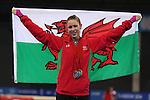 Glasgow 2014 Commonwealth Games<br /> <br /> Francesca Jones (Wales) celebrates gold in the women's Individual Rhythmic Gymnastics apparatus final.<br /> <br /> 26.07.14<br /> ©Steve Pope-SPORTINGWALES
