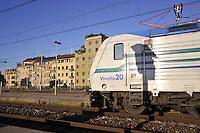 - Trenitalia, high density regional train at Milan Lambrate Station....- Trenitalia, treno regionale ad alta densità alla stazione di Milano Lambrate