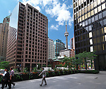 Toronto downtown outdoor scenery with CN tower in the background. Toronto, Ontario, Canada.