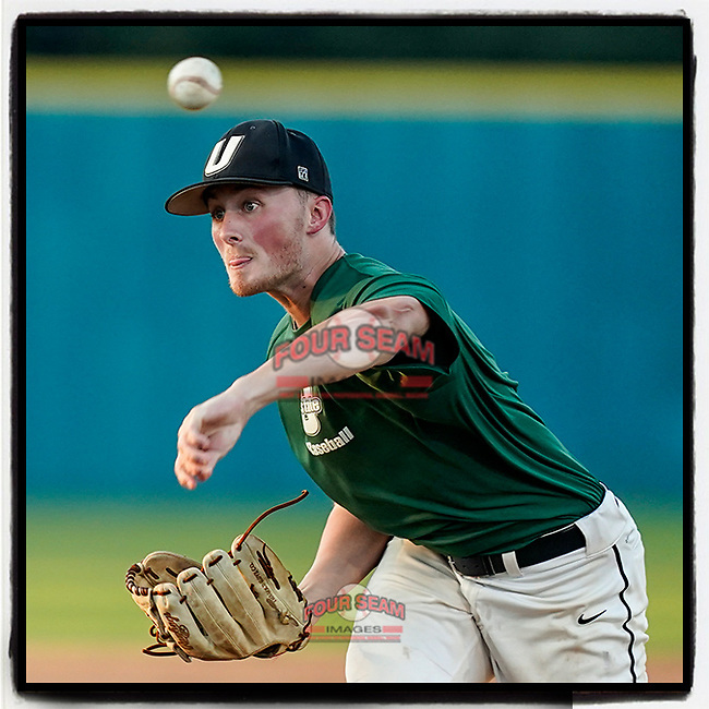 Derek Sivek (47) of the University of South Carolina Upstate Spartans pitches in an intrasquad scrimmage during fall practice on Wednesday, September 29, 2021, at Cleveland S. Harley Park in Spartanburg, South Carolina. (Tom Priddy/Four Seam Images)